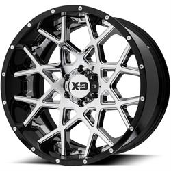 XD XD203-22128844NCB Chopstix Series Wheel, 22 x 12