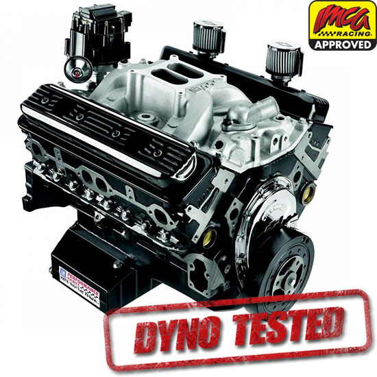 Dressed GM 19258602 CT350 IMCA-Sealed 602 Chevy Crate Engine, Dynoed