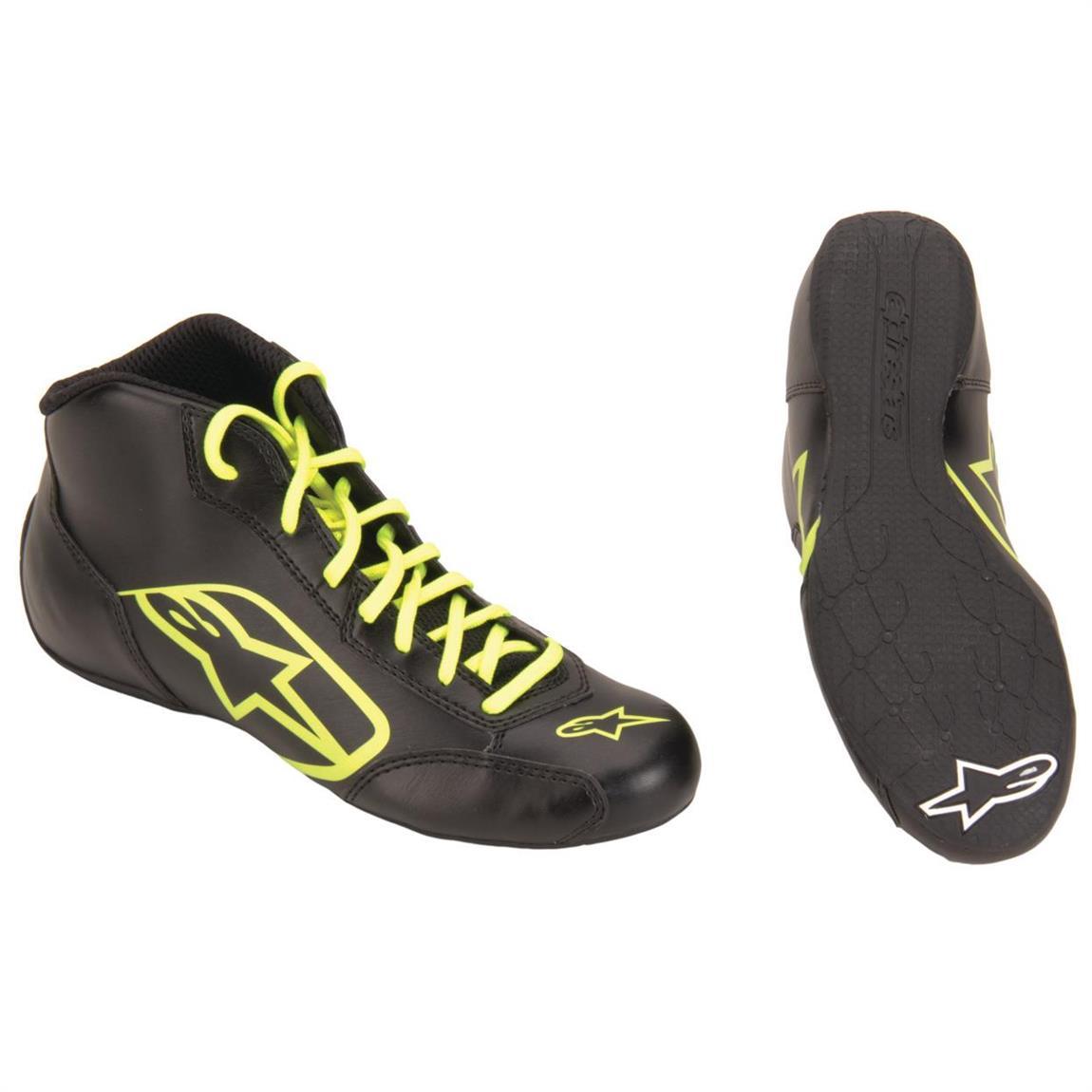 Size 11 Alpinestars 2711518-12B-11 Tech 1-K Start Shoes Black//White