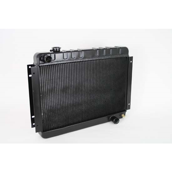 Dewitts 1239002M 1966-67 Chevelle SB/BB Direct Fit Radiator, Blk, Man