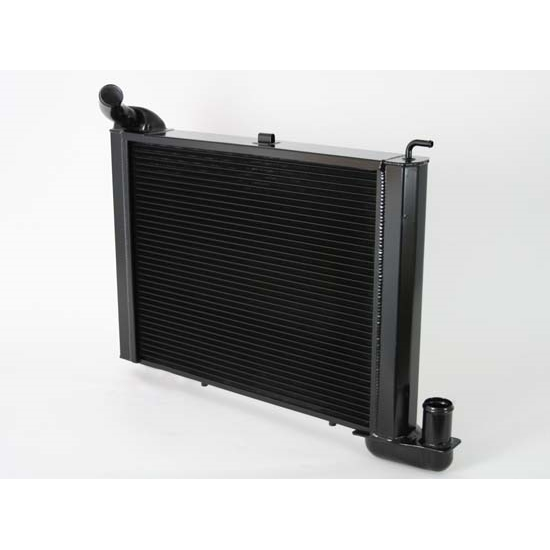 Dewitts 1239065M 1965 Corvette Direct Fit Radiator, Black, Manual