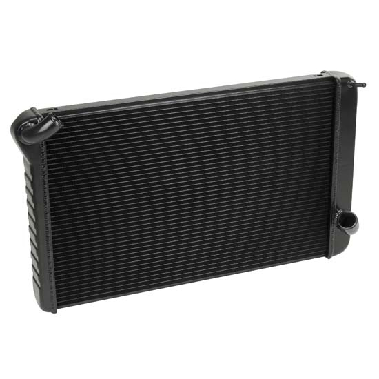 Dewitts 1239069M 1969-72 Corvette Direct Fit Radiator, Black, Manual