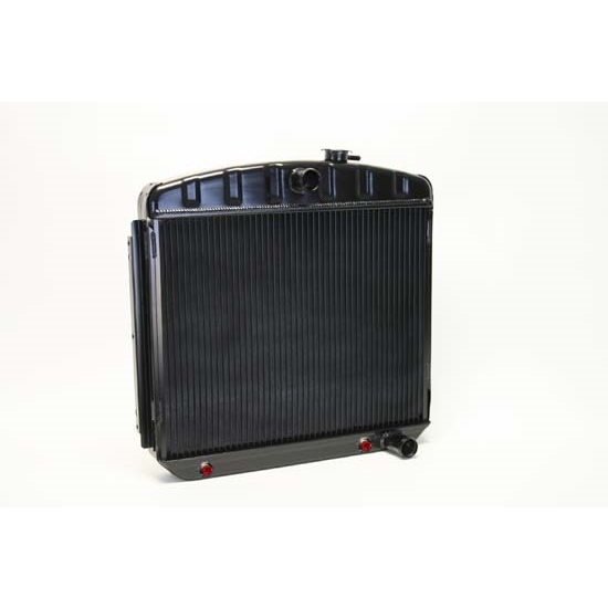 Dewitts 1249012A 1955-57 Chevy Direct Fit HP Radiator, Black, Auto