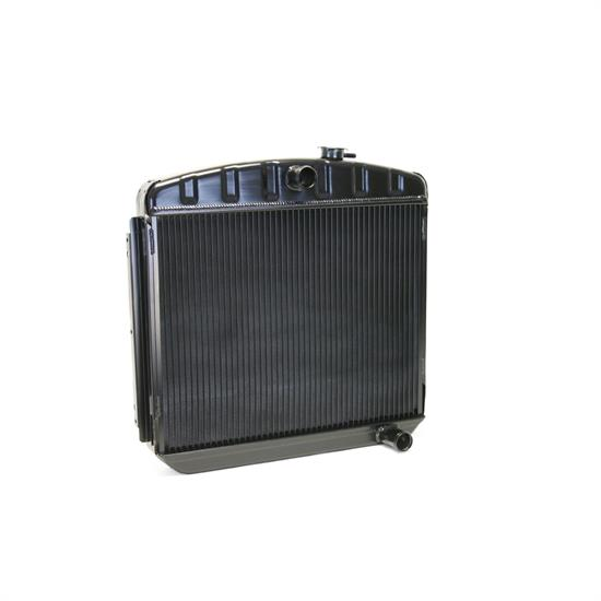 Dewitts 1249012M 1955-57 Chevy Direct Fit HP Radiator, Black, Manual