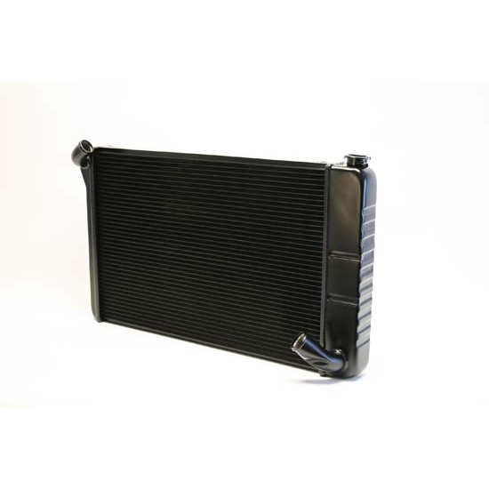 Dewitts 1249070M 1969-72 Corvette Direct Fit HP Radiator, Black, Man