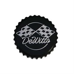 DeWitts® 514B Billet Aluminum 15lb. Radiator Cap, Grip, Black