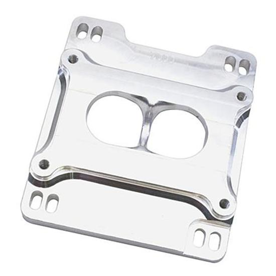 Speedway Billet Aluminum 2-Barrel Carburetor Spacer, Dual Plane