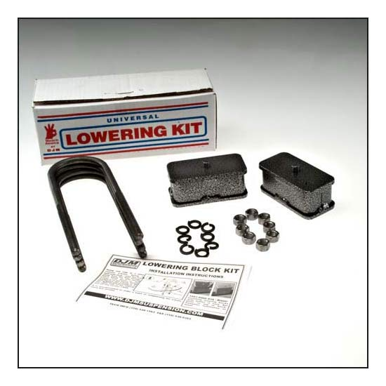 DJM Suspension SB2LK Leaf Spring Lowering Block Kit, 2 Inch Drop
