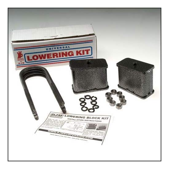 DJM Suspension SB4LK Leaf Spring Lowering Block Kit, 4 Inch Drop