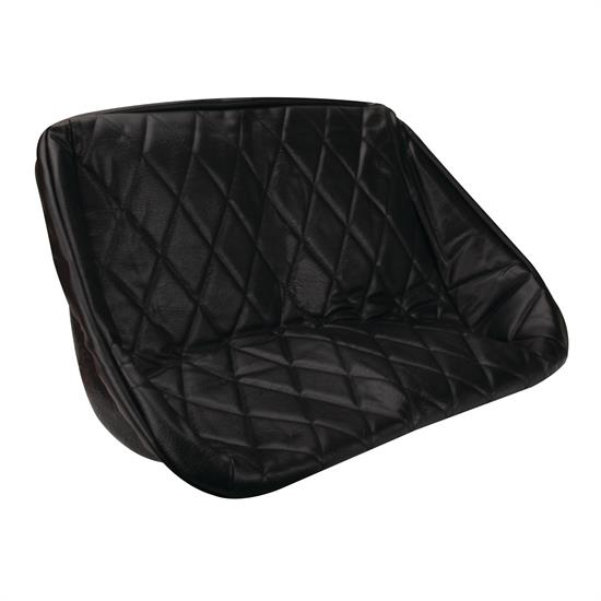 EMPI 3061 Buggy Rear Bench Seat Cover, Black Diamond Pattern, 38 Inch
