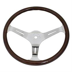 EMPI 79-4022-7 Dark Classic Wood Steering Wheel, 15 x 3, 23mm