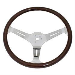 EMPI 79-4022-7 Dark Classic Wood Steering Wheel, 15 x 3, 23mm
