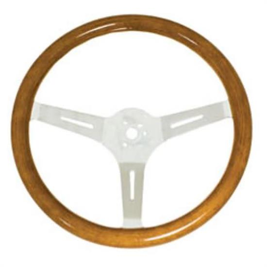 EMPI 79-4026-7 Light Classic Wood Steering Wheel, 15 x 3, 31mm