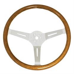 EMPI 79-4028-7 Light Classic Wood Steering Wheel, 15 x 3, 23mm
