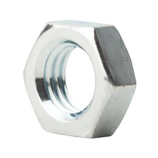 5/16-24 SAE J995 Grade 5 Zinc Finish Steel Jam Nut, LH