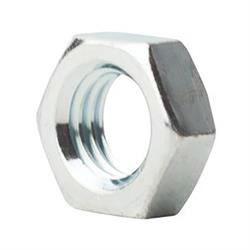 5/16-24 SAE J995 Grade 5 Zinc Finish Steel Jam Nut, LH