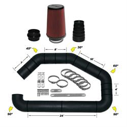 Airaid 101-401 U-Build-It Master Kit I Air Intake System, 4 Inch Tube