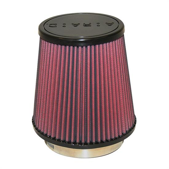 Airaid 700-453 SynthaFlow Air Filter, Red, 6in Tall, Tapered Conical