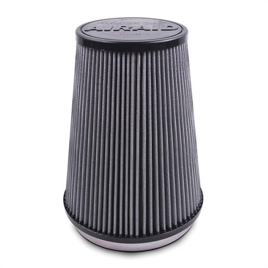 Airaid 700-466TD Racing Air Filter, White, 6in Tall, Tapered Conical