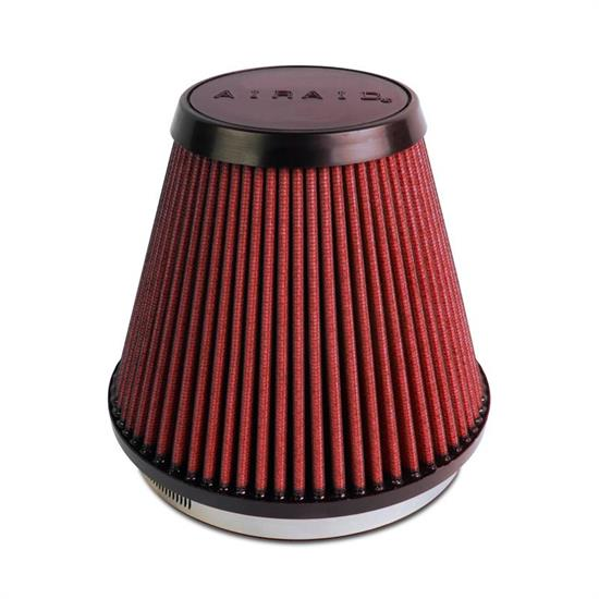 Airaid 700-466 SynthaFlow Air Filter, Red, 6in Tall, Tapered Conical