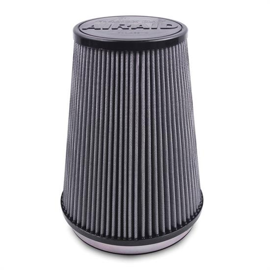 Airaid 700-474TD Racing Air Filter, White, 6.5in Tall, Tapered Conical