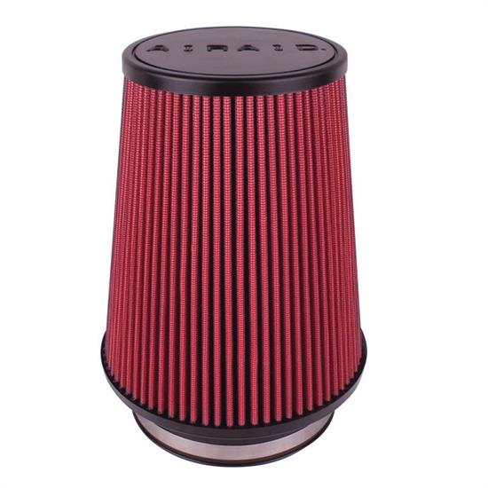 Airaid 700-491 Air Filter, Red, 7in Tall, Round Tapered
