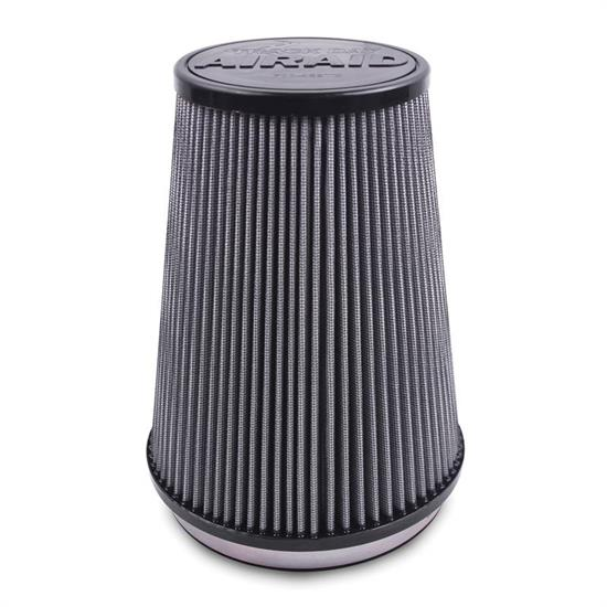 Airaid 700-494TD Racing Air Filter, White, 6in Tall, Round Tapered