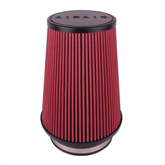 Airaid 700-496 SynthaFlow Air Filter, Red, 9in Tall, Round Tapered