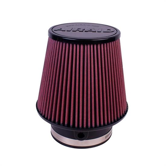 Airaid 700-581 SynthaFlow Air Filter, Red, 6in Tall, Tapered Conical