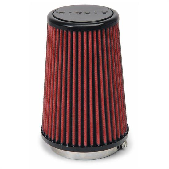 Airaid 701-433 SynthaMax Air Filter, Red, 7in Tall, Round Tapered