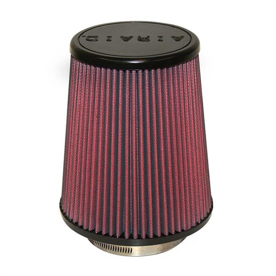 Airaid 701-457 SynthaMax Air Filter, Red, 7in Tall, Tapered Conical