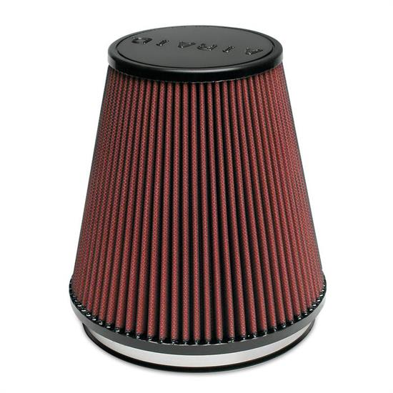 Airaid 701-495 SynthaMax Air Filter, Red, 7in Tall, Round Tapered