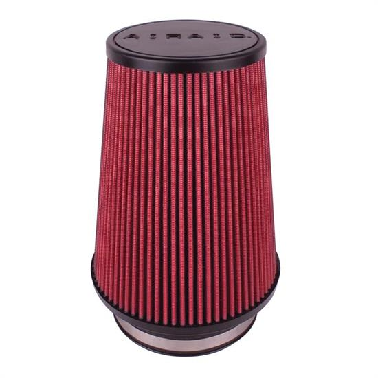 Airaid 701-496 SynthaMax Air Filter, Red, 9in Tall, Round Tapered