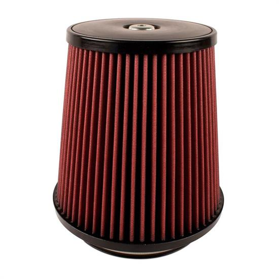 Airaid 701-498 SynthaMax Air Filter, Red, 9in Tall, Round Tapered