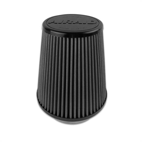 Airaid 702-458 SynthaMax Air Filter, Black, 7in Tall, Tapered Conical