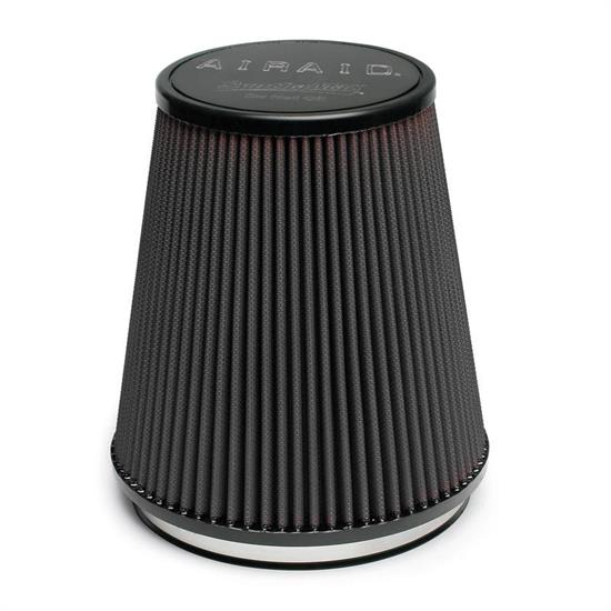 Airaid 702-462 SynthaMax Air Filter, Black, 7in Tall, Tapered Conical