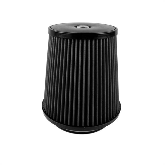 Airaid 702-498 SynthaMax Air Filter, Black, 9in Tall, Tapered Conical