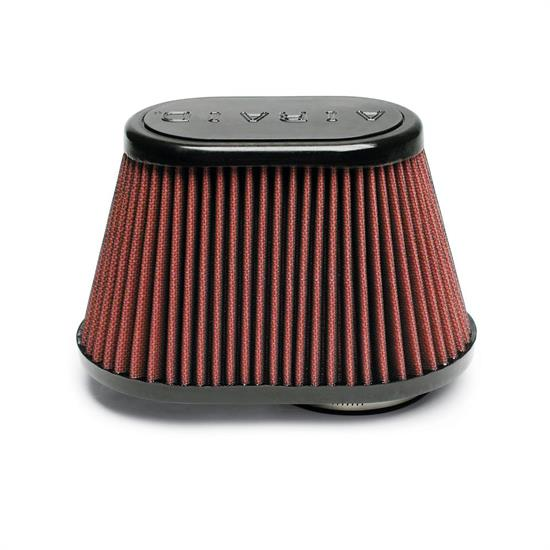 Airaid 720-431 SynthaFlow Air Filter, Red, 5in Tall, Oval Tapered