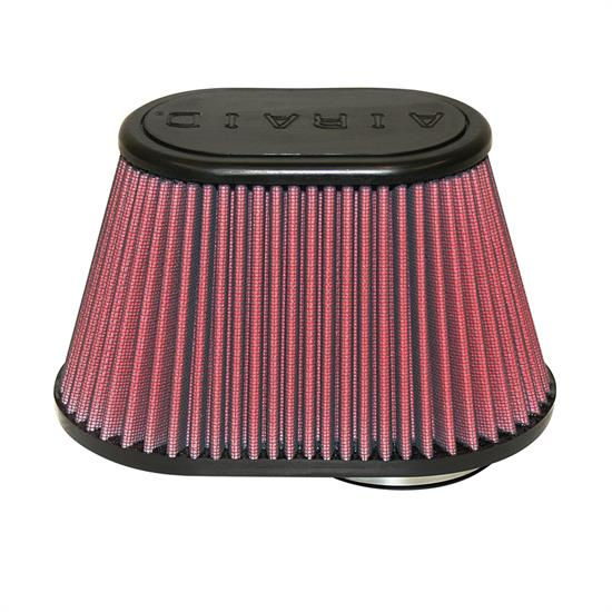 Airaid 720-432 SynthaFlow Air Filter, Red, 5in Tall, Oval Tapered