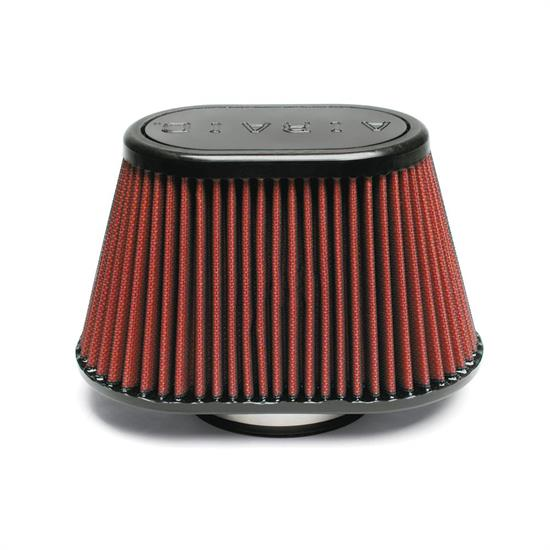 Airaid 720-440 SynthaFlow Air Filter, Red, 5in Tall, Oval Tapered
