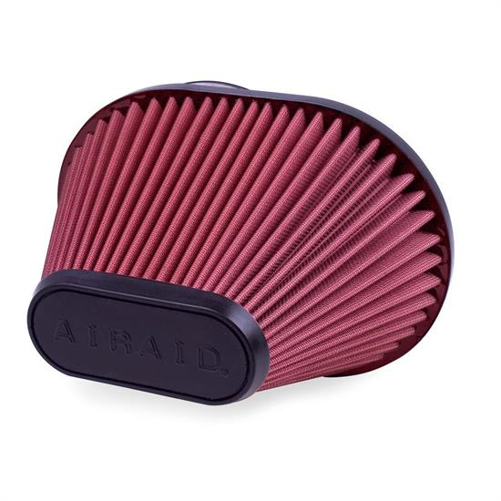 Airaid 720-473 SynthaFlow Air Filter, Red, 6.5in Tall, Oval Tapered