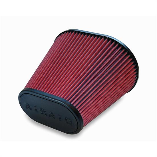 Airaid 720-476 SynthaFlow Air Filter, Red, 9in Tall, Oval Tapered