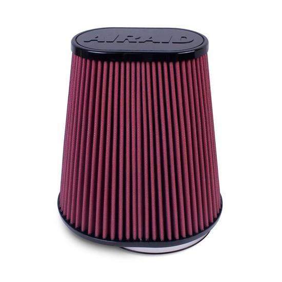 Airaid 721-127 Air Filter, Red, 9.5in Tall, Oval Tapered