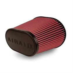 Airaid 721-242 SynthaMax Air Filter, Red, 8in Tall, Oval Tapered