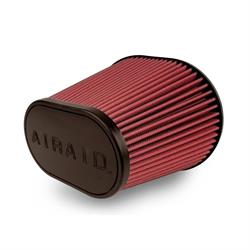 Airaid 721-472 SynthaMax Air Filter, Red, 9in Tall, Oval Tapered