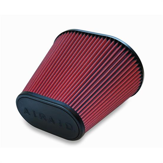 Airaid 721-476 SynthaMax Air Filter, Red, 9in Tall, Oval Tapered