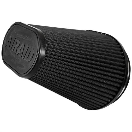 Airaid 722-242 SynthaMax Air Filter, Black, 8in Tall, Oval Tapered