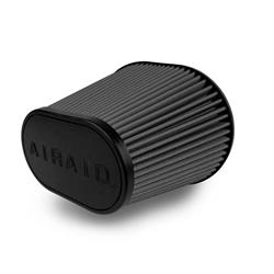 Airaid 722-472 SynthaMax Air Filter, Black, 9in Tall, Oval Tapered