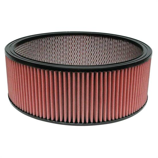 Airaid 800-306 SynthaFlow Air Filter, Red, 5in Tall, Round Straight