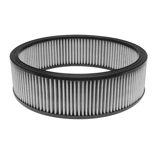 Airaid 800-377TD Racing Air Filter, White, 4in Tall, Round Straight